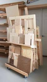 mobile lumber storage rack woodworking plans and information at