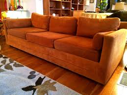 Orange Sofa Bed by Cozy Autumn Burnt Orange Sofa Mid Century Modern Selig Monroe