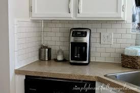 exellent kitchen backsplash uneven wall reno update subway tile