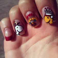 Snoopy Thanksgiving Gobble Gobble 16 Festive D I Y Thanksgiving Day Nails From