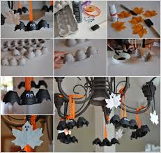 Diy Halloween Ornaments Diy Halloween Egg Carton Bats And Leaf Ghosts Beesdiy Com