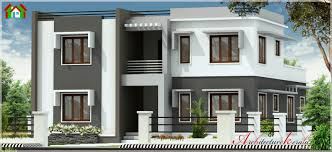 2500 square feet contemporary style kerala house elevation