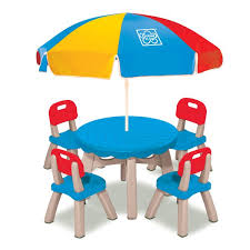 6 Piece Patio Set by Grow U0027n Up Summertime Kids 6 Piece Patio Round Table And Chair Set