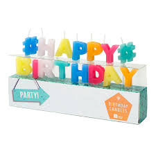 happy birthday cake candles by postbox party notonthehighstreet com