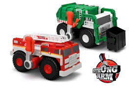 tonka mighty motorized fire truck tonka strong arm giveaway mommadjane