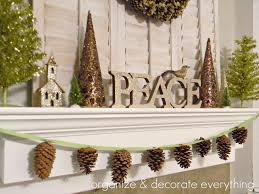 pinecone garland organize and decorate everything