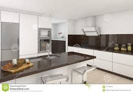 modern kitchen white modern kitchen white and brown stock illustration image 17716444