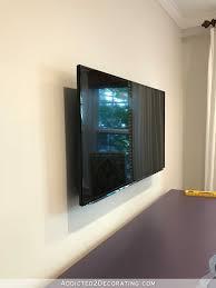 custom diy frame for wall mounted tv u2013 finished