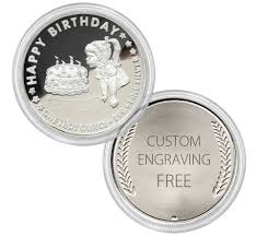 personalized gift coins 1 troy oz 999 silver