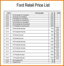Wholesale Price Sheet Template 4 Price Sheet Template Receipt Templates