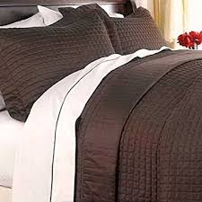 King Size Quilt Coverlet Amazon Com Modern Reversible Lightweight Solid Brown Quilt