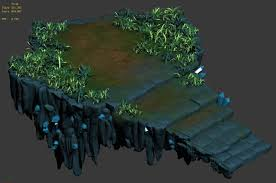 cartoon sky city fake terrain 3d cgtrader