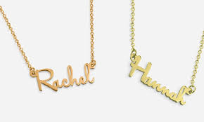 Rose Gold Name Necklace Custom Mini Name Necklace In Sterling Silver Gold Or Rose Gold