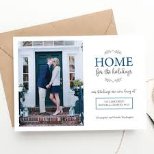 photo card home for the holidays moving