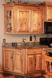 Knotty Hickory Kitchen Cabinets Hickory Cabinets With Granite Countertops Dark Brown Hairs