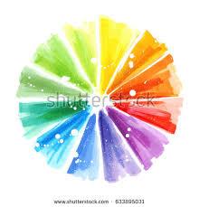 handmade color wheel watercolor illustration stock illustration