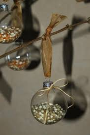 how to make glass popcorn ornaments