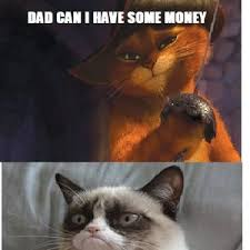 Puss In Boots Meme - even grumpy cat is no match for puss in boots by recyclebin meme