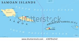 map samoa islands political map samoa formerly stock vector 438764242