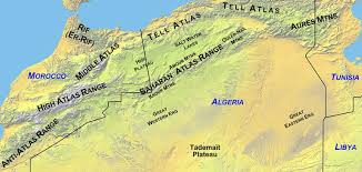 algeria physical map maps rethinking the region middle east africa
