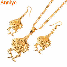 png gold earrings anniyo bird of paradise jewelry set gold color necklaces