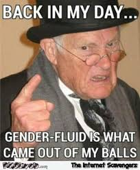 Came Meme - gender fluid is what came out of my balls funny adult meme pmslweb