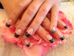 nail art black tips babbling brooke kiss and broadway nails