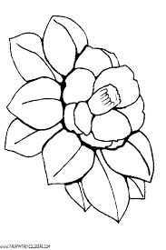 dibujos colorear flores 031
