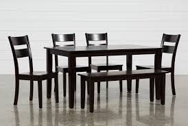 espresso rectangular dining table lindy 6 piece espresso rectangle dining set living spaces