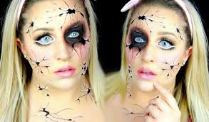 cracked doll makeup tutorial possessed porcelain doll youtube