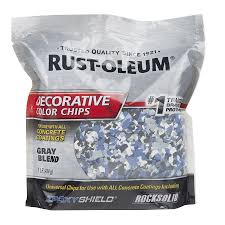 shop rust oleum epoxyshield gray paint color flakes actual net
