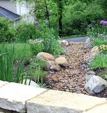 River Rock Garden Bed River Garden Design River Rocks Garden Beautiful Backyard
