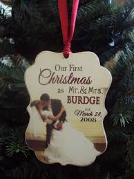 personalized wedding christmas ornaments our christmas ornament married wedding gift christmas