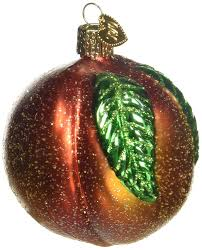 amazon com old world christmas peach glass blown ornament home