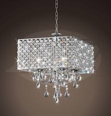 Square Chandelier Rosemary Chrome 4 Light Square Chandelier 16 H X