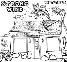 weather coloring pages free windy weather coloring pages