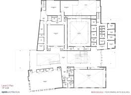 college floor plans reed college performing arts building
