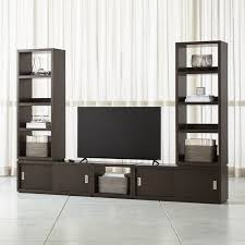 tv stands and cabinets tv stands media consoles cabinets crate and barrel