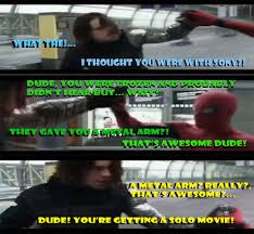 Winter Soldier Meme - spiderman vs winter soldier secret chat know your meme