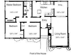 Atrium Ranch Floor Plans Three Bedroom Ranch House Plans Mattress