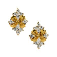 rajputi earrings gorgeous rajputi gold ear stud