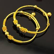 Childrens Gold Bracelets Children Under The Age Of One Month Baby Gold Plated Bangle