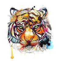 multicolor japanese style tiger design on back tattooimages biz
