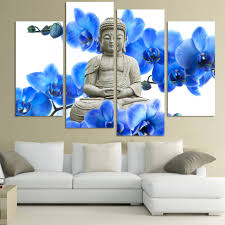 home decor canvas 4 pieces free shipping sell modern the buddha face print on