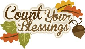 thanksgiving autumn or fall count your blessings clip clip