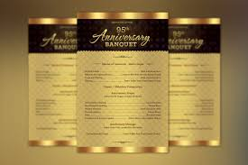 banquet program templates church anniversary one sheet program template on behance