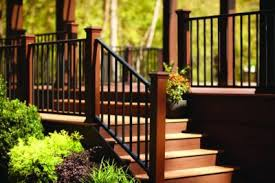 Decking Banister Trex Reveal Railing Great For Outdoor U0026 Deck Hand Railing Trex