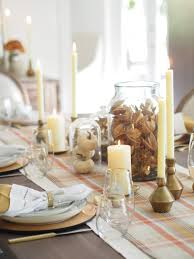 how to decorate your table for thanksgiving typical domestic set the table glass gold