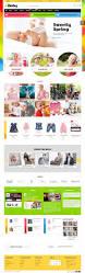 kids store ecommerce website template children shop infant