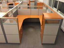 workstation desk wood trim montage w glass at arnold u0027s
